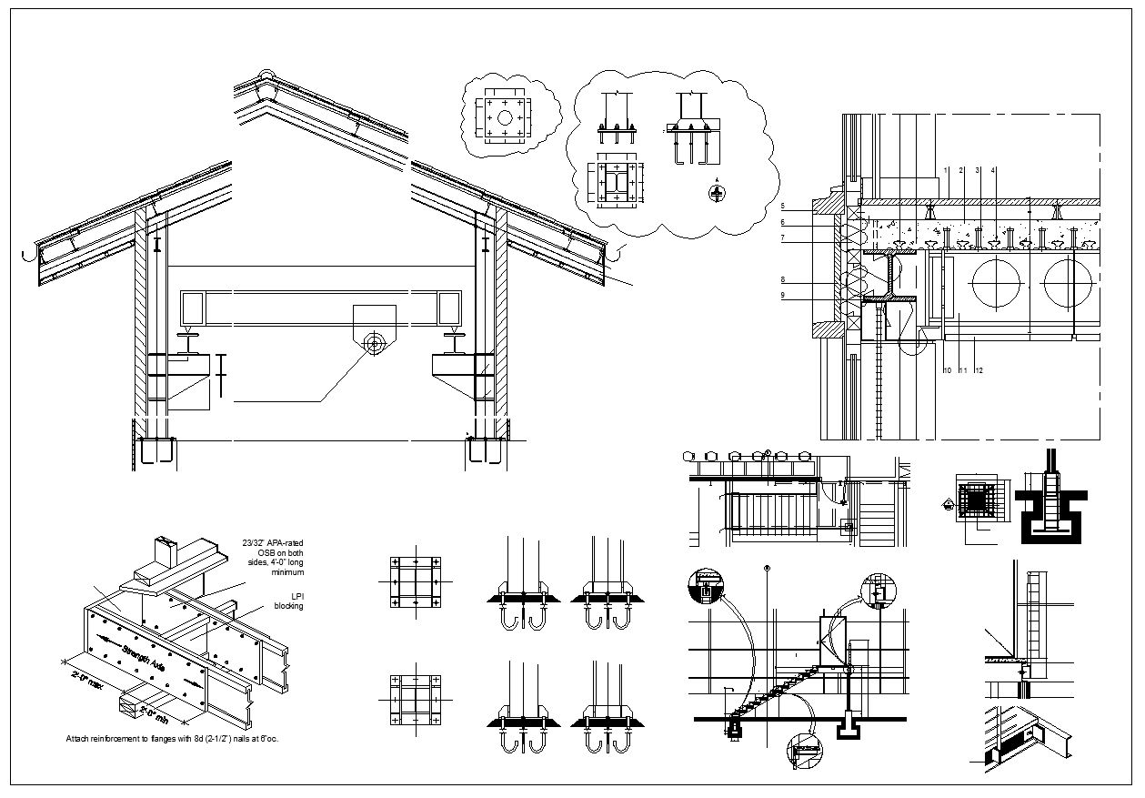 Steel Structure Detail Cad Drawings Download S