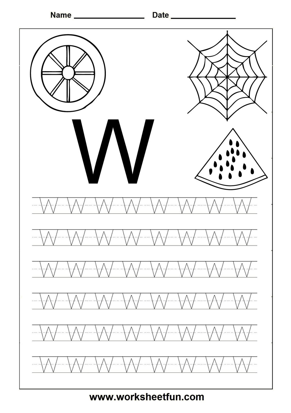 Free Printable Worksheets Letter Tracing Worksheets For Kindergarten