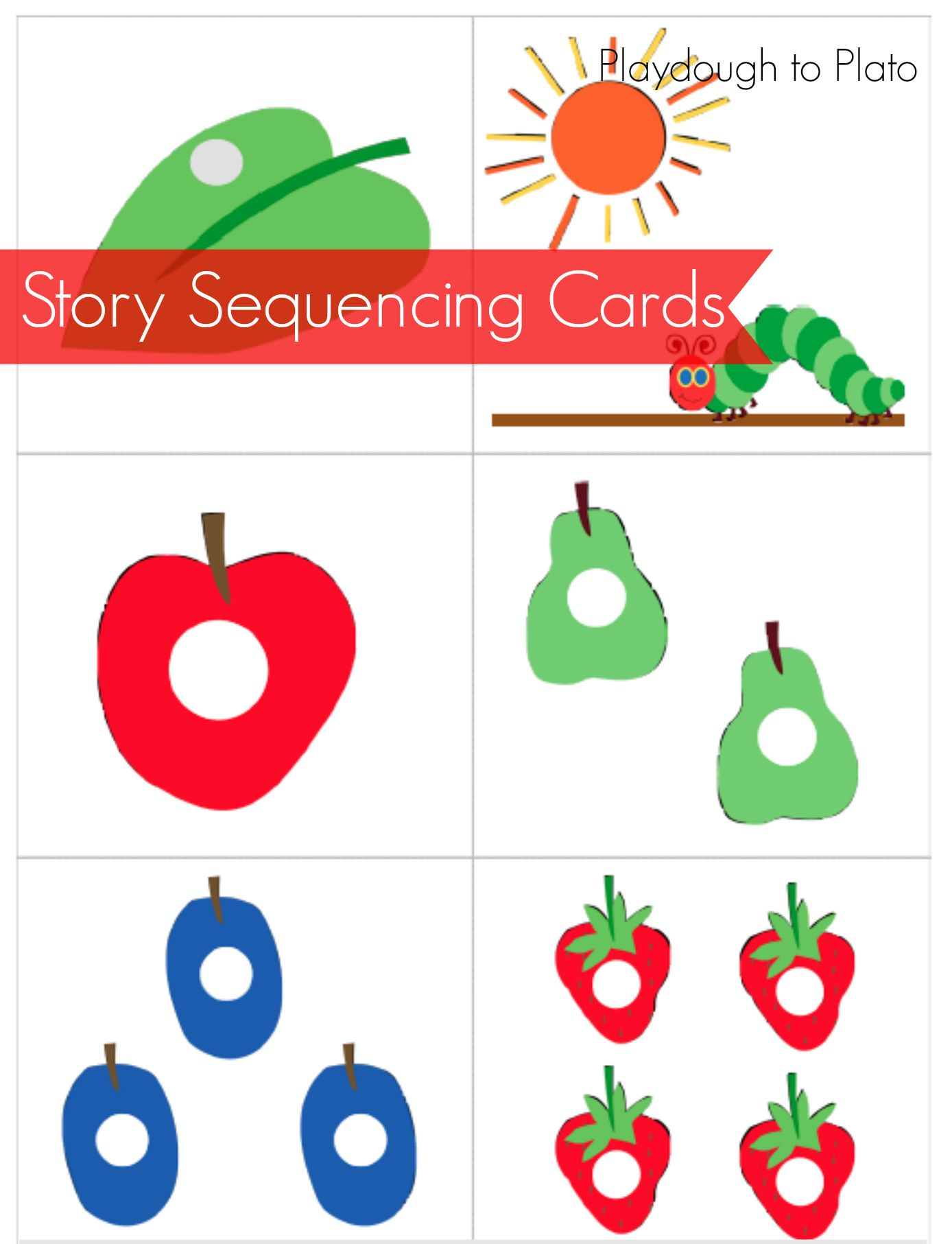 Very Hungry Caterpillar Story Sequencing Cards