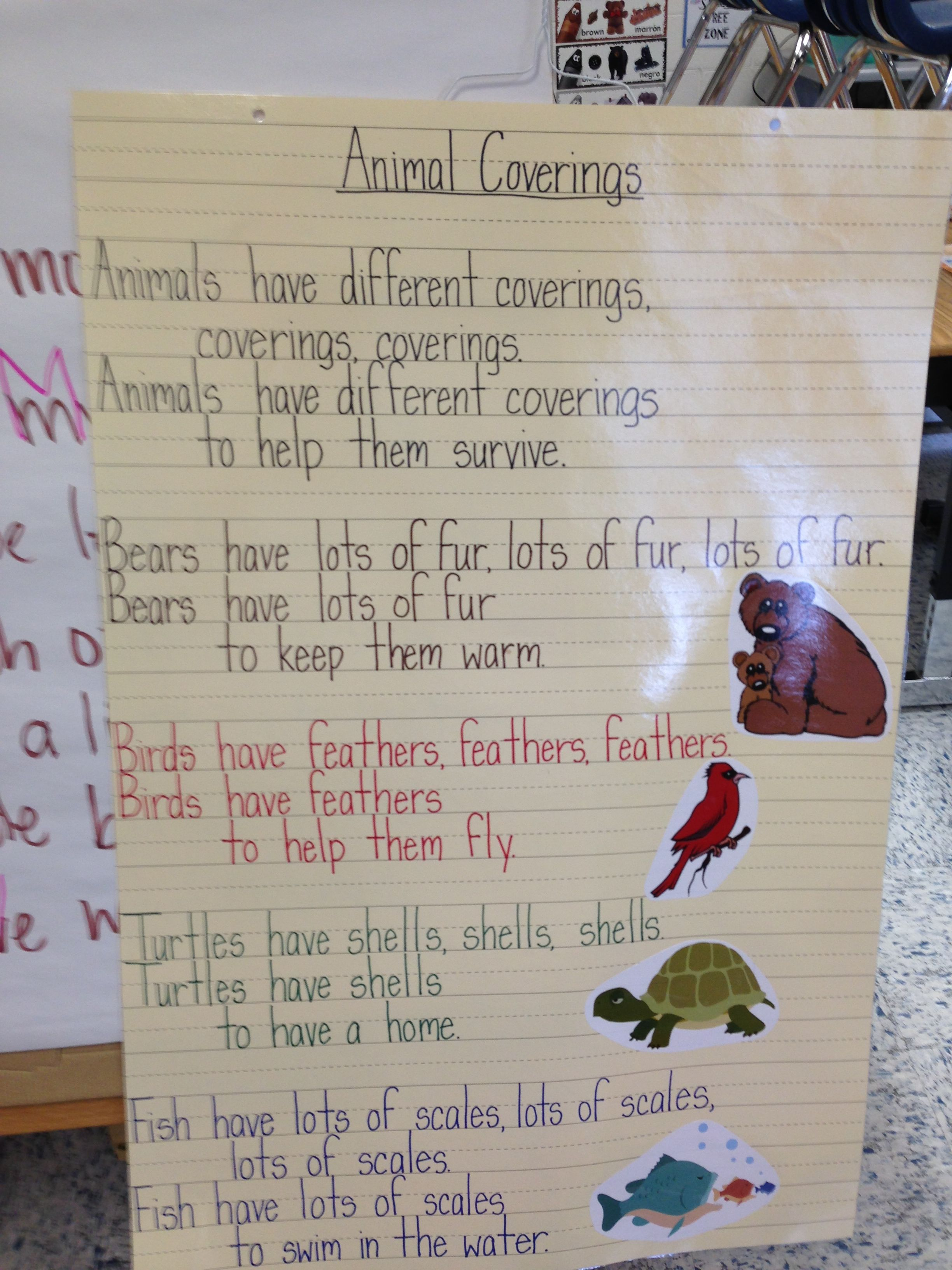 Animal Coverings Poem Science