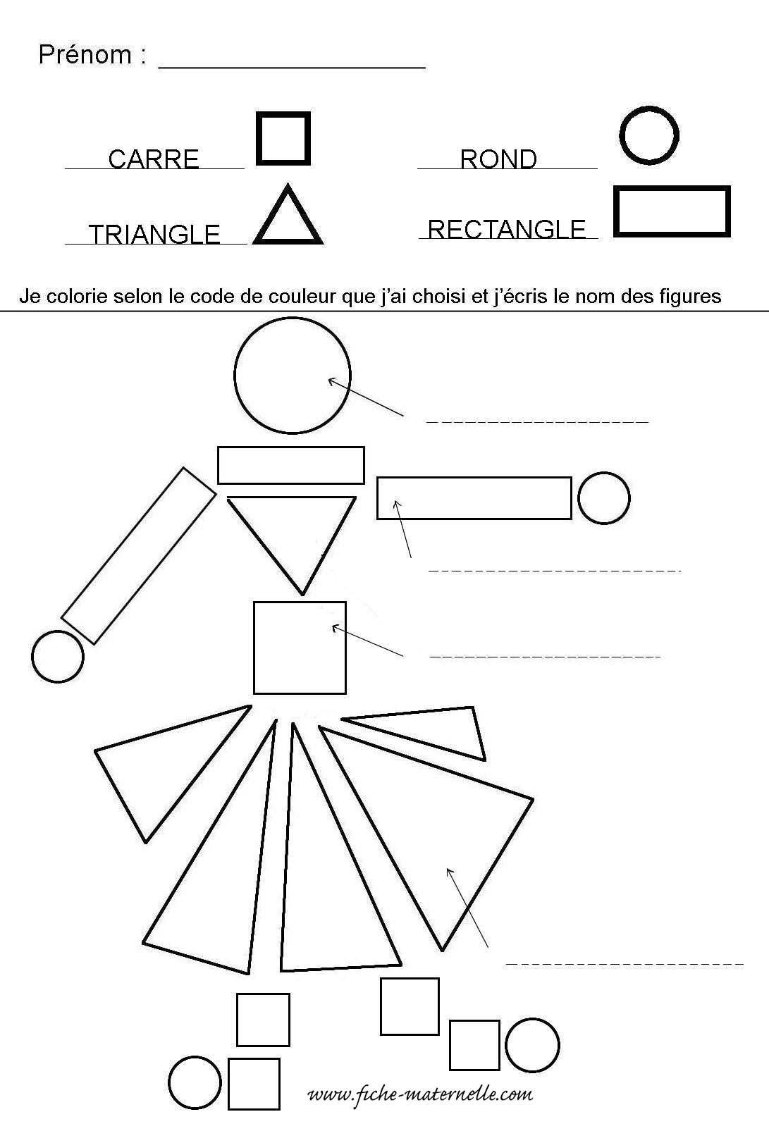 Reconnaitre Les Formes Geometriques En Maternelle En