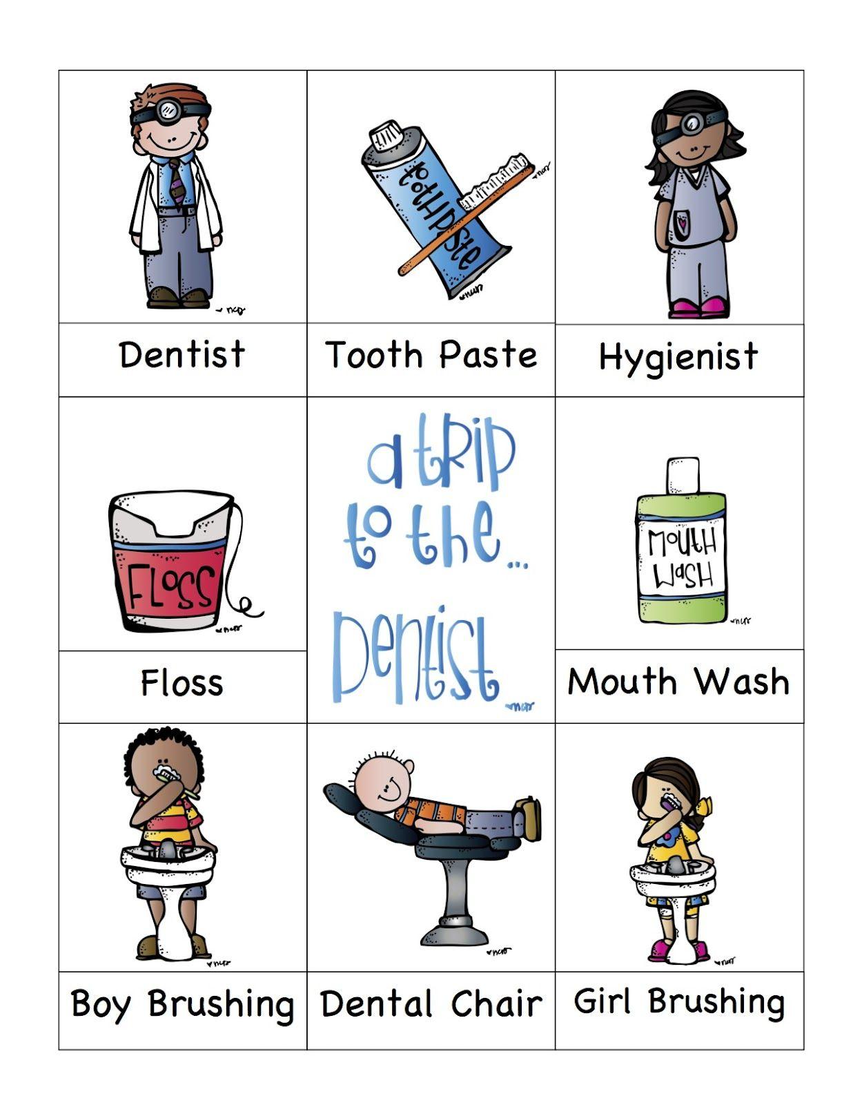 Preschool Printables Dentist