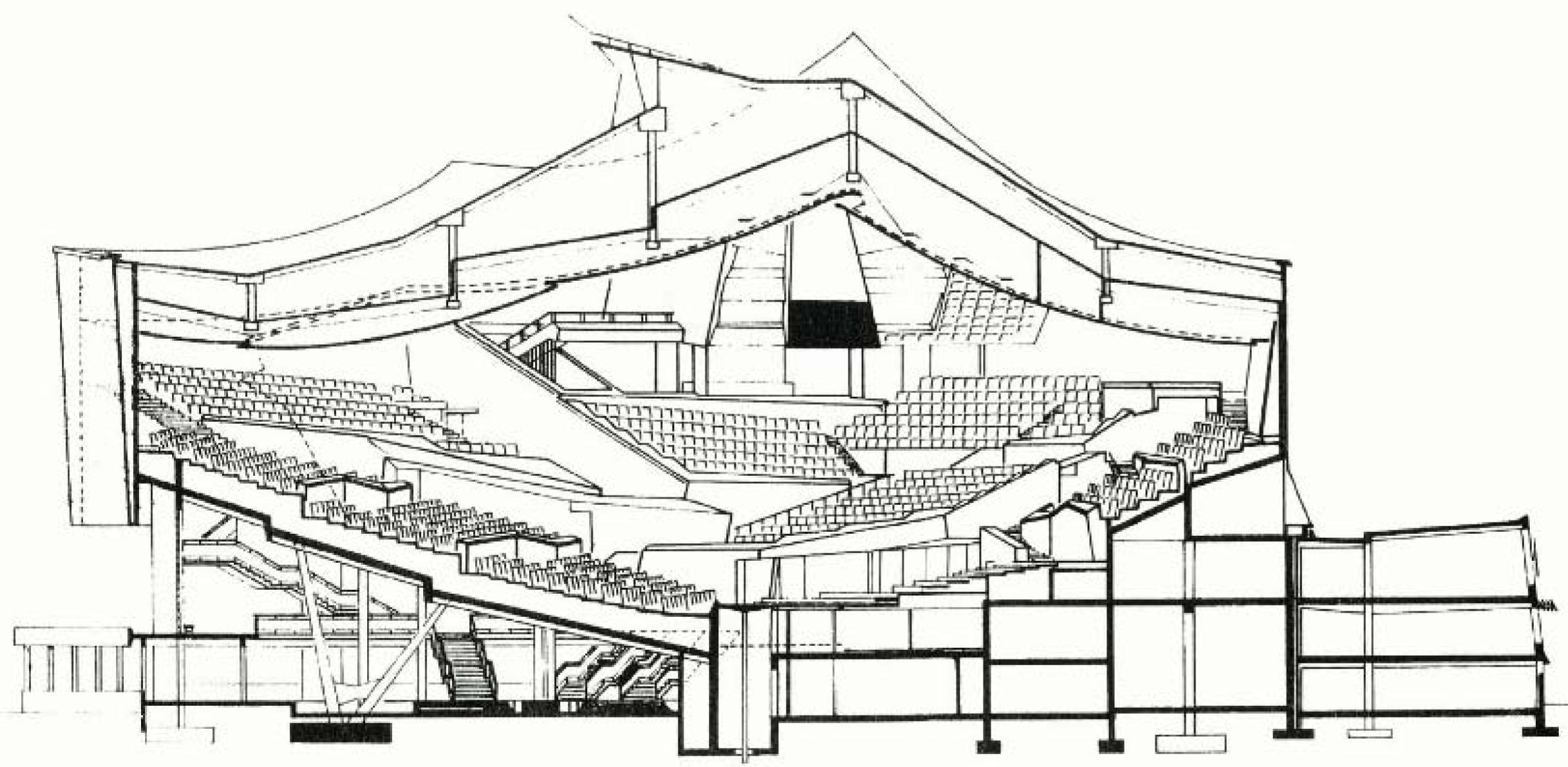 Philharmonic Hall In Berlin By Hans Scharoun