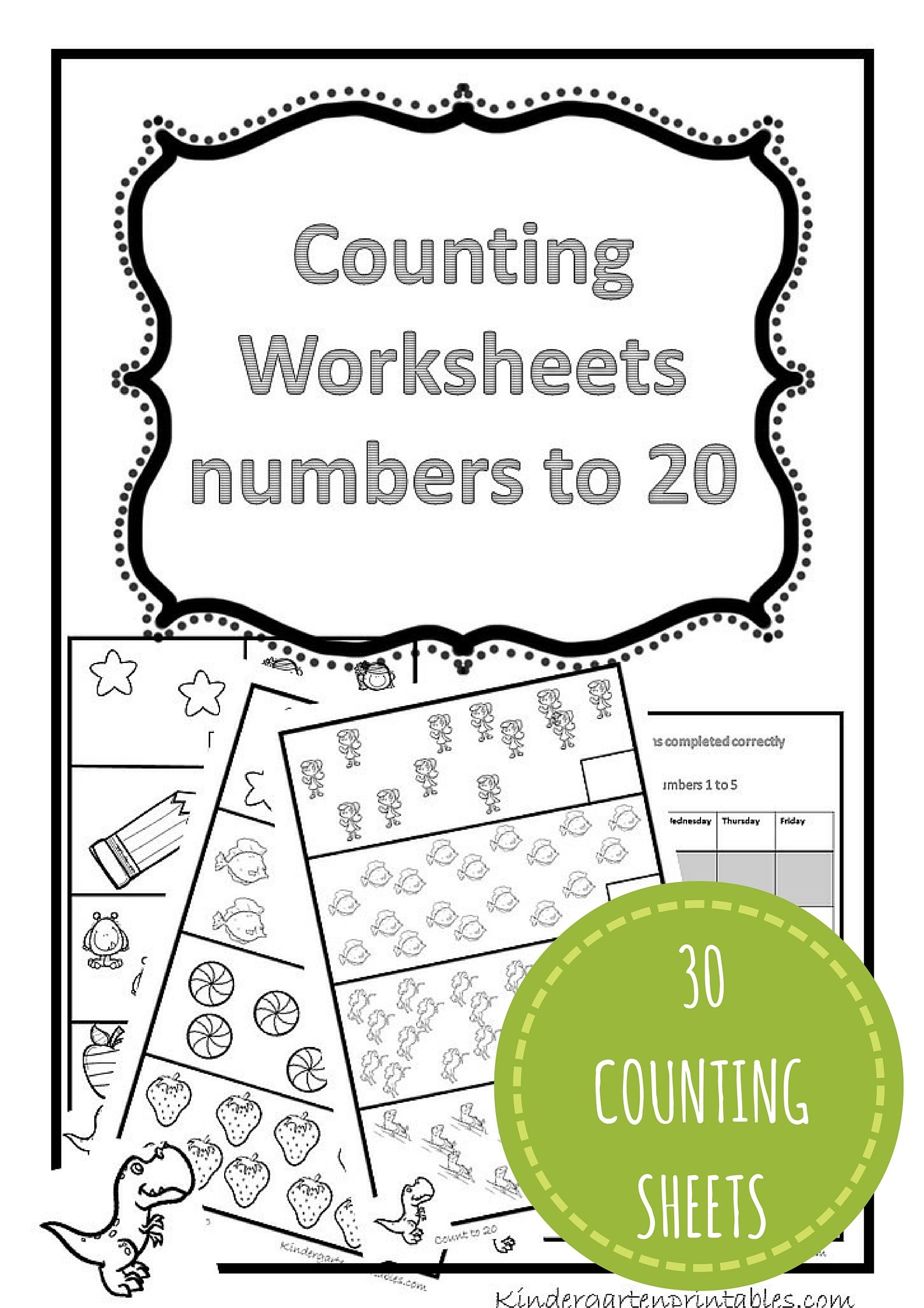 Counting Worksheets 1 20 Free Printable Workbook Counting