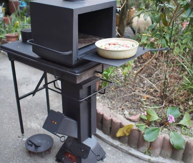 I Stumbled Upon This Video While Browsing Facebook It Is A Rocket Stove With Attachments