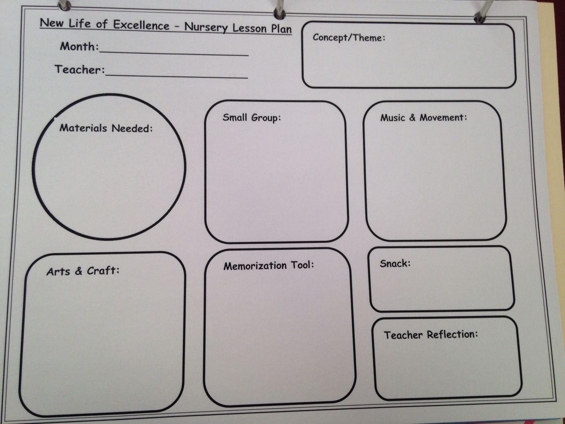 2 S Amp 3 S Lesson Plan Template For Children S Church