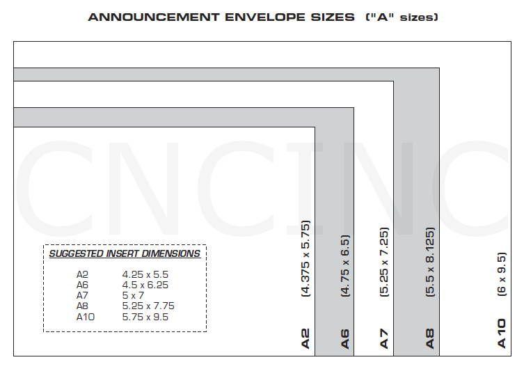 Wedding Invitation Envelope Sizes