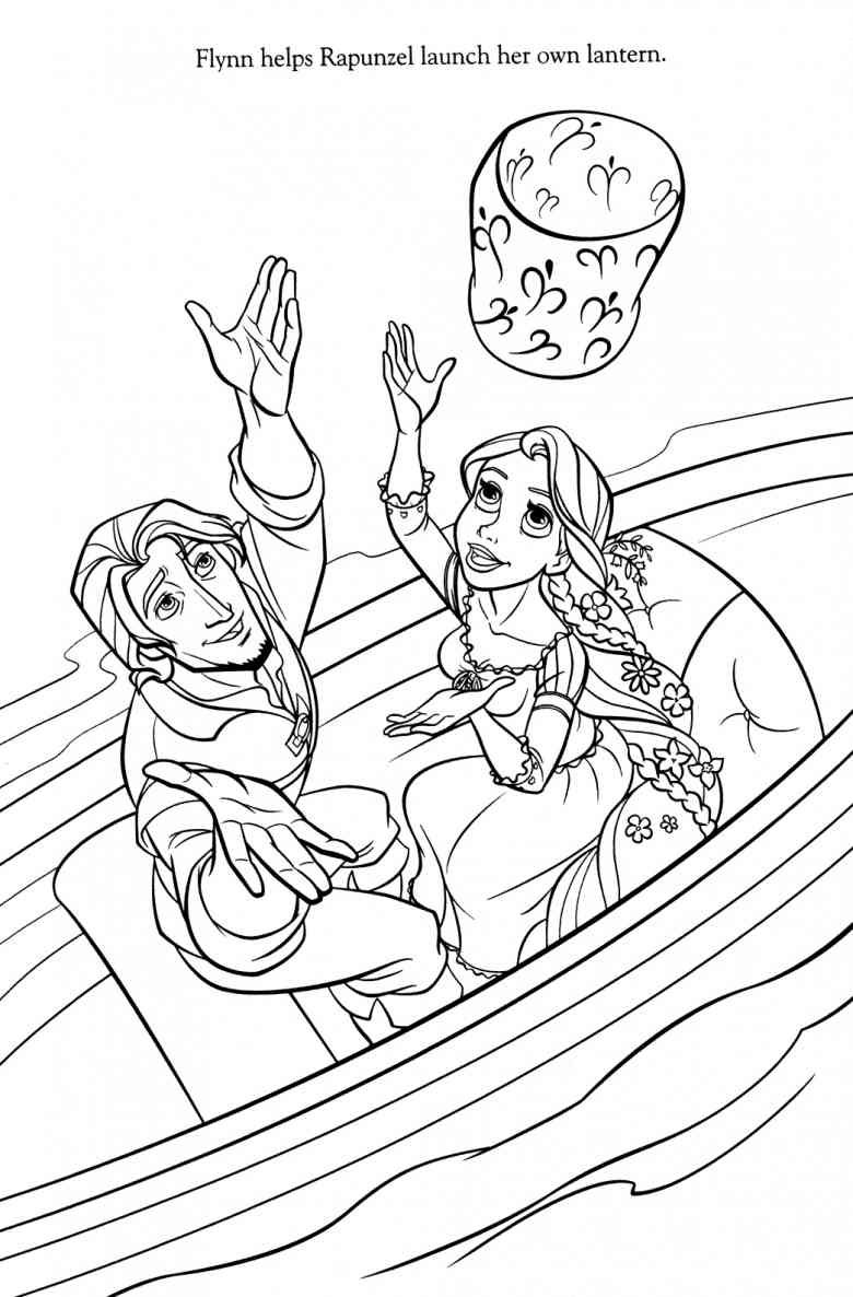 Disney Tangled Coloring Pages Printable Rapunzel 27 Printable
