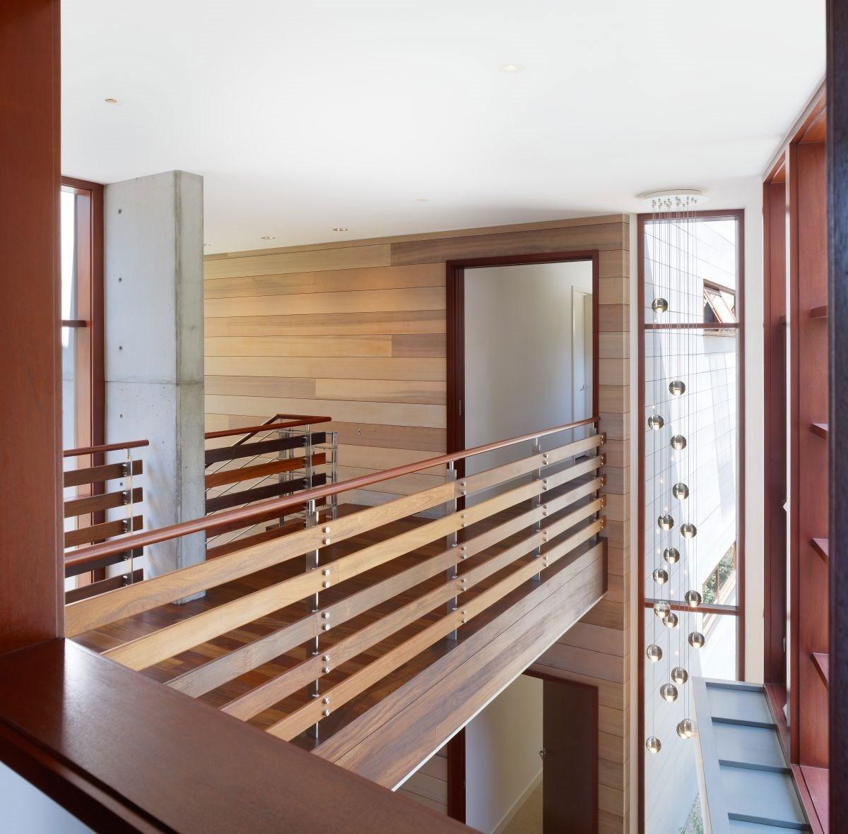 Indoor Bridge And Railings Design Using Wood Ideas Photo | Internal Staircase Railing Designs