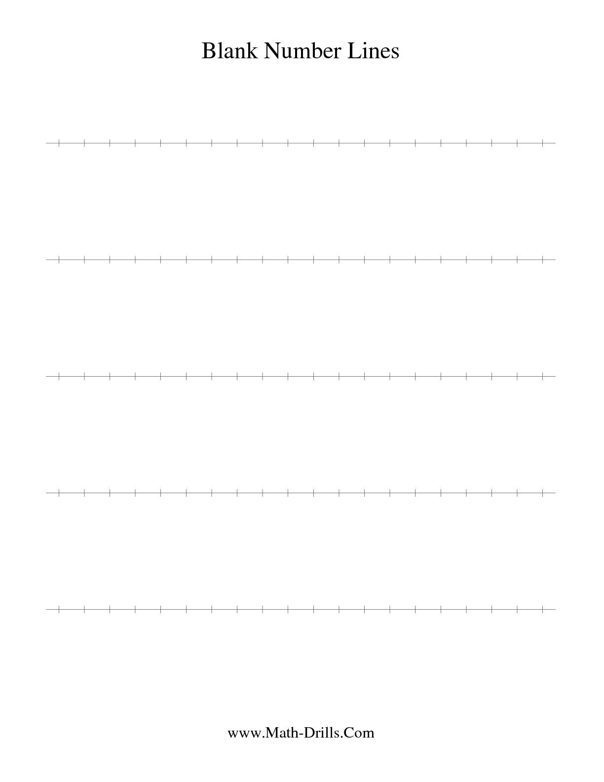 The Blank Number Line Math Worksheet From The Number Sense