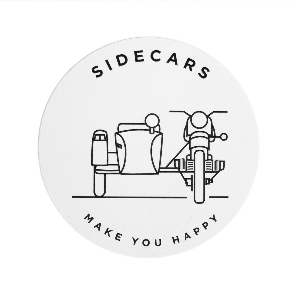 Sidecars Make You Happy Sticker Ural Motorcycles