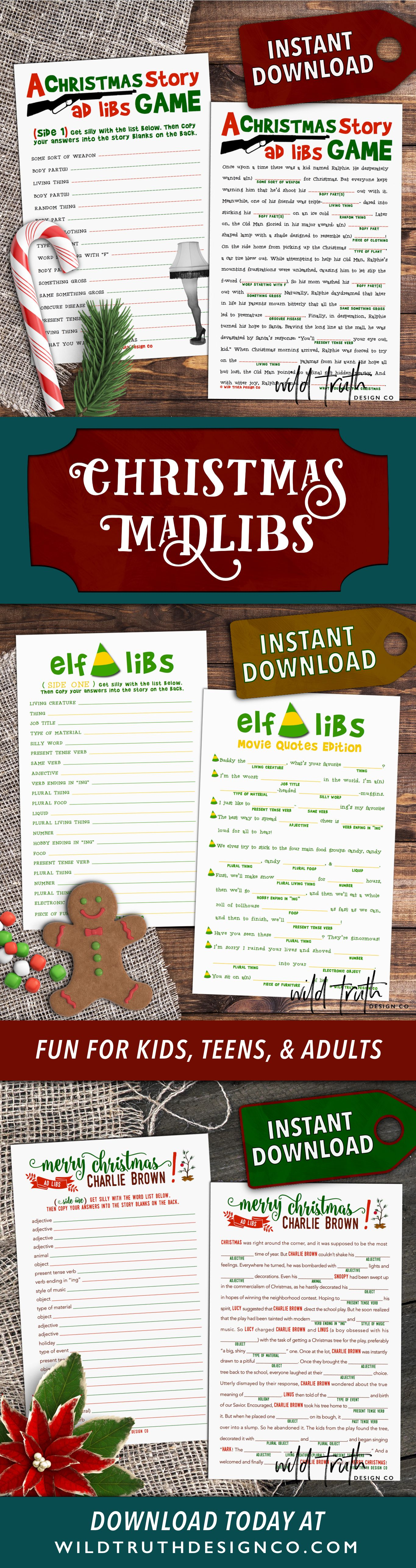 Crazy Funny Christmas Mad Libs