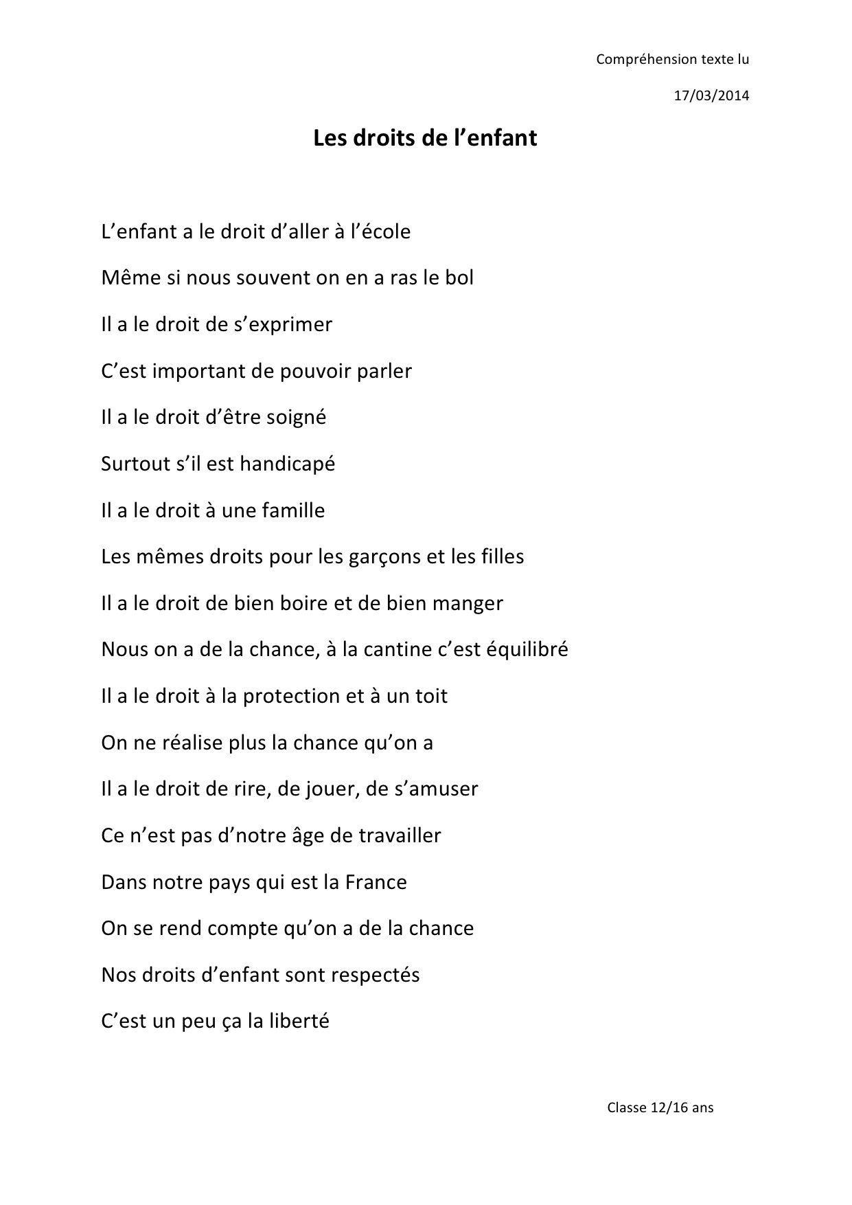 Poesie Engagee Exemple