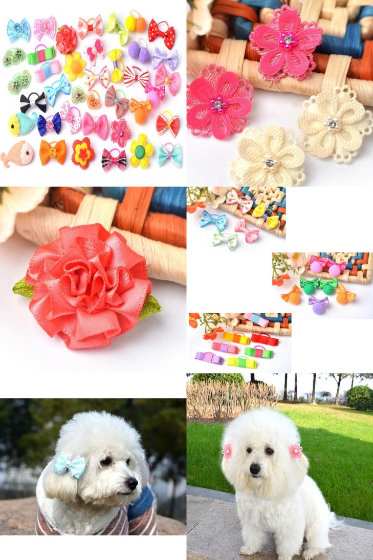 Visit to Buy PCSSet Cute Ribbon Dogs Cats Puppy Hair Accessories