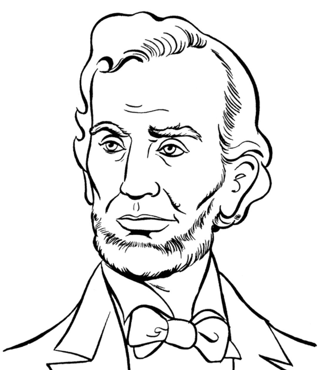Abraham Lincoln Presidents Day Coloring Pages