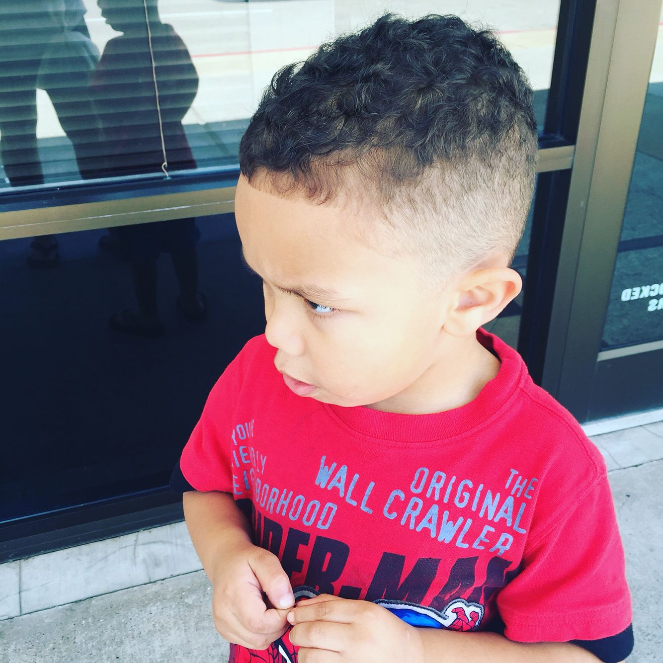 My 4 Year Old Boys New Hair Cute Fade And Edge Mixed Boy