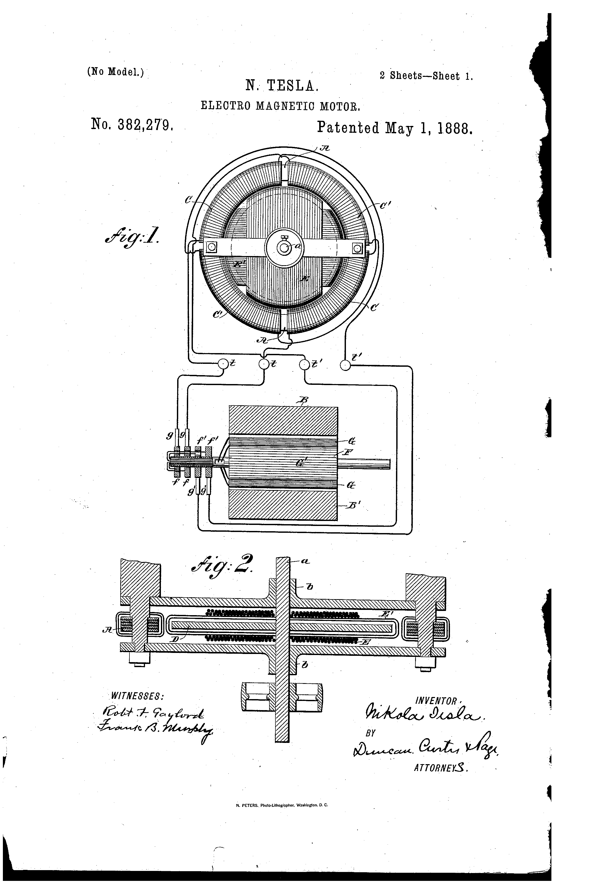 May Patent Motor Tesla