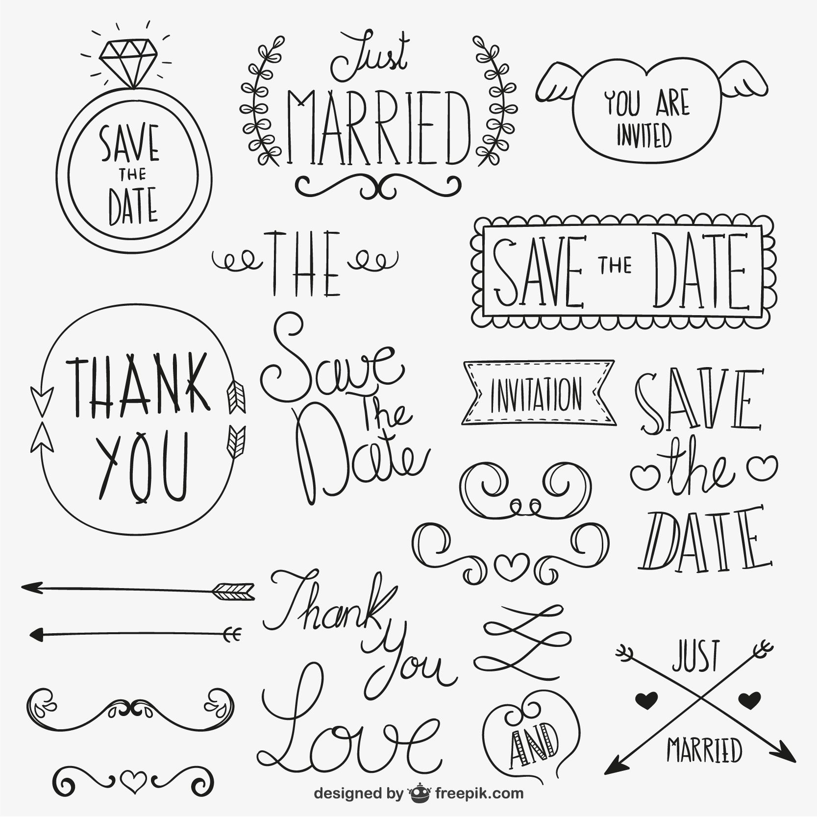Letters Fonts And Doodle Ideas