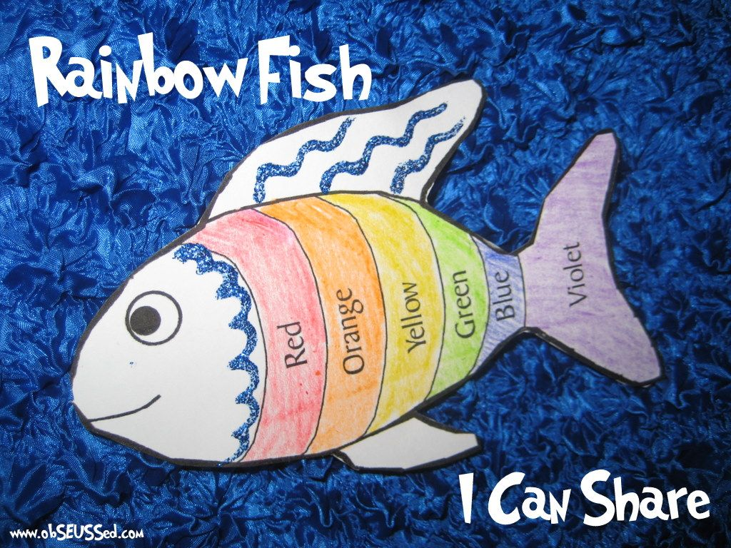 Rainbow Fish Kids Craft Activity To Teach Sharing And