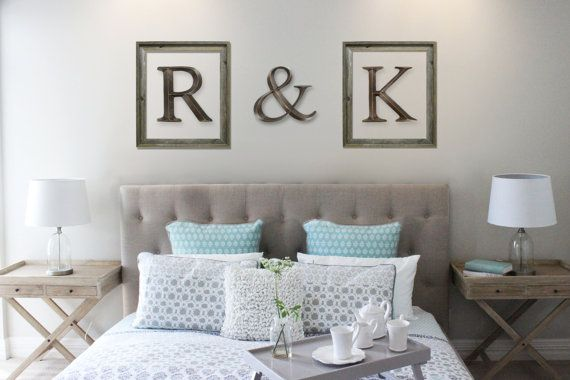 Wall Initials // Letters For Wall // Framed Letters