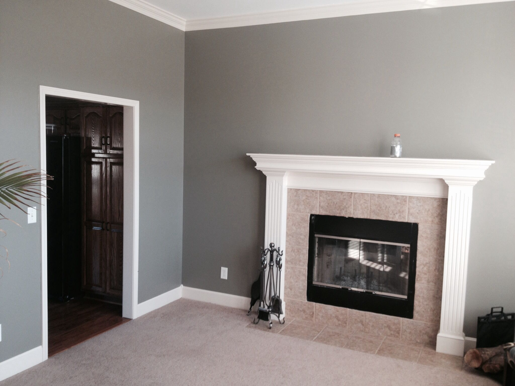 the after 1 the color is called squirrel by behr paint on home depot behr paint colors interior id=60454
