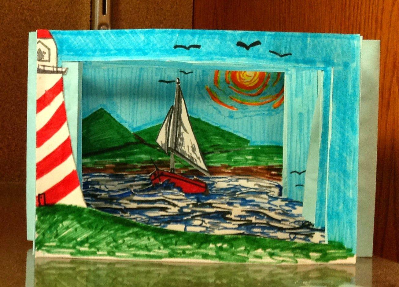 8th Grade Middle School Tunnel Book Art Lesson