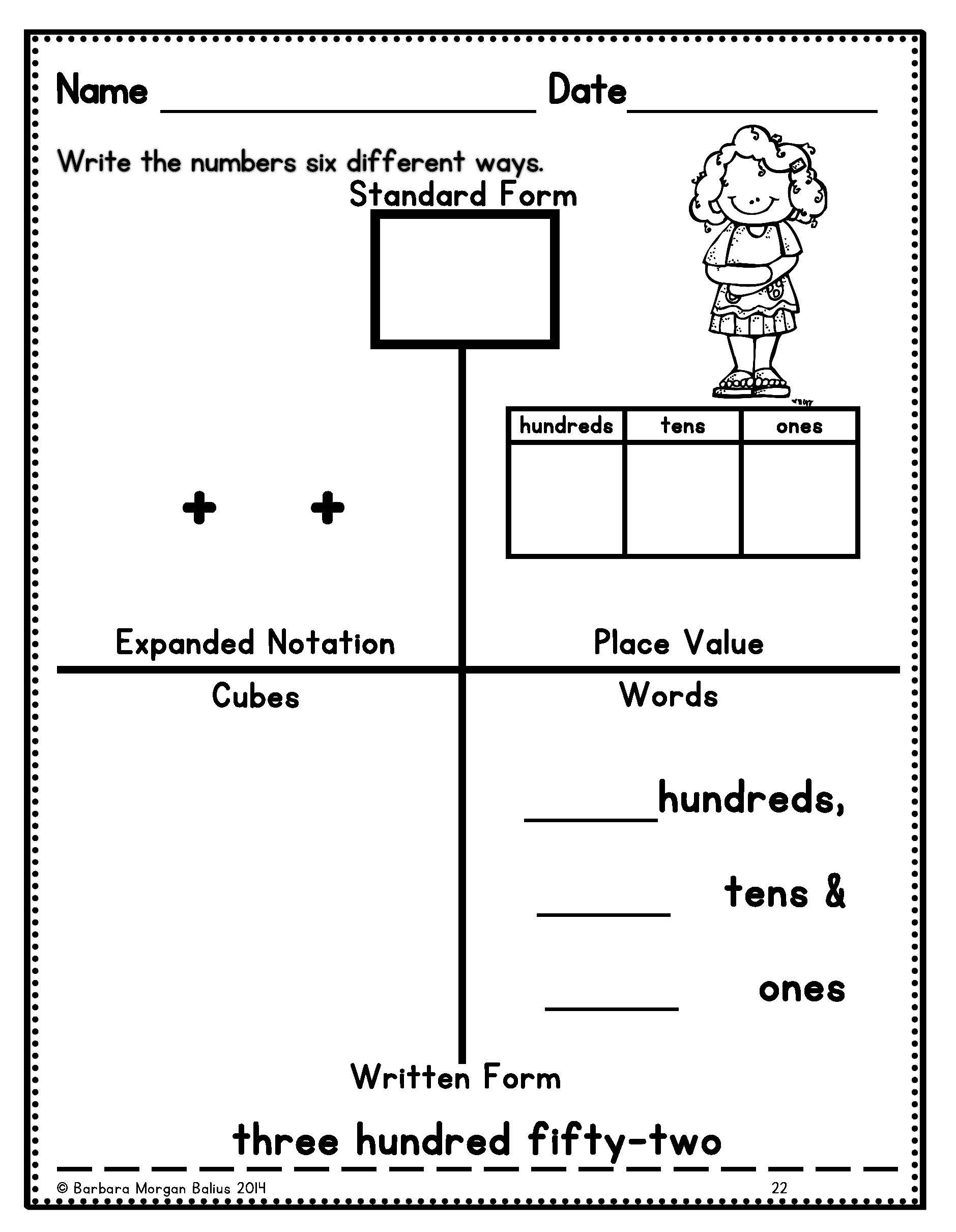 Multiple Representation Great Place Value Practice