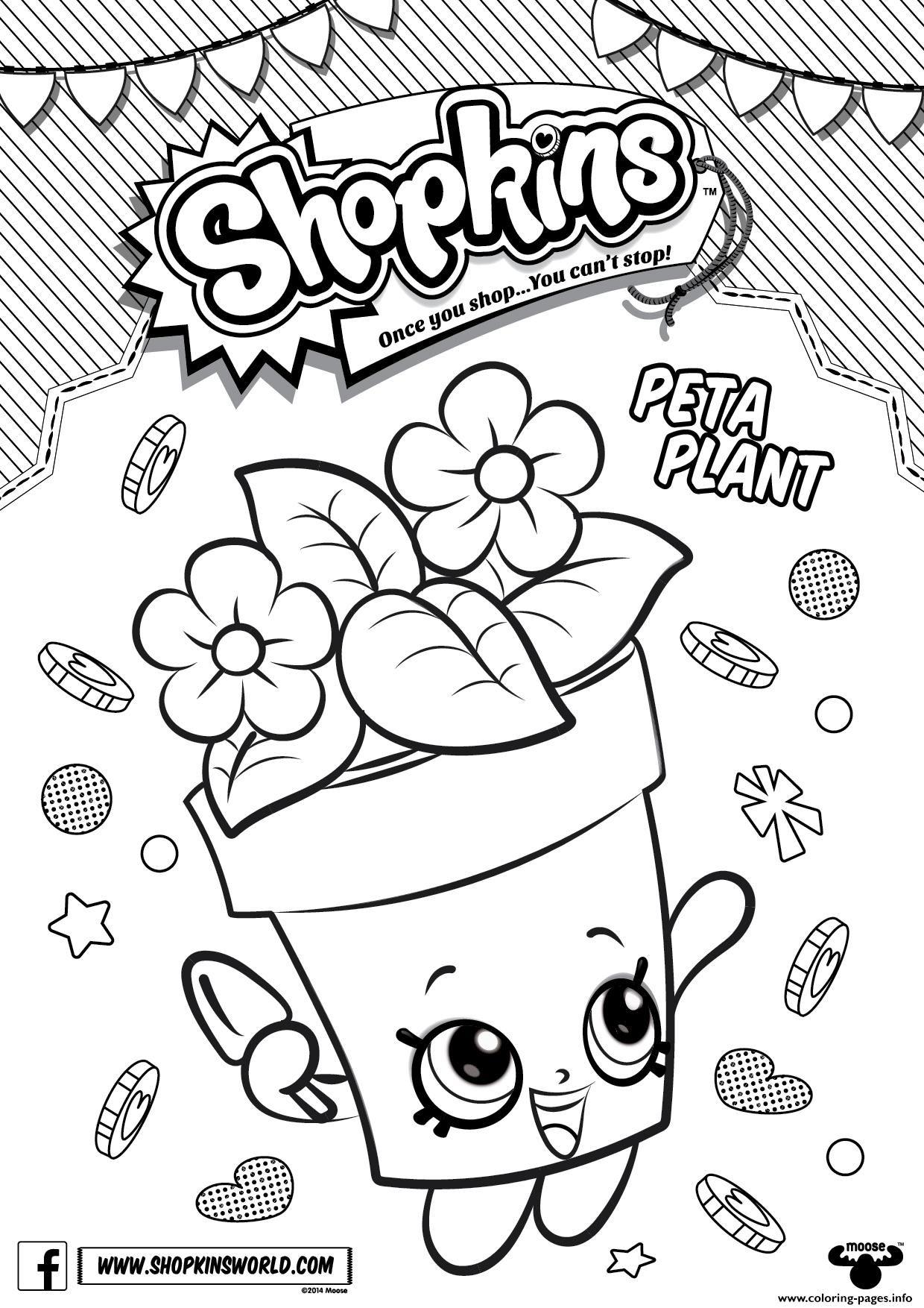 Print Shopkins Peta Plant Coloring Pages