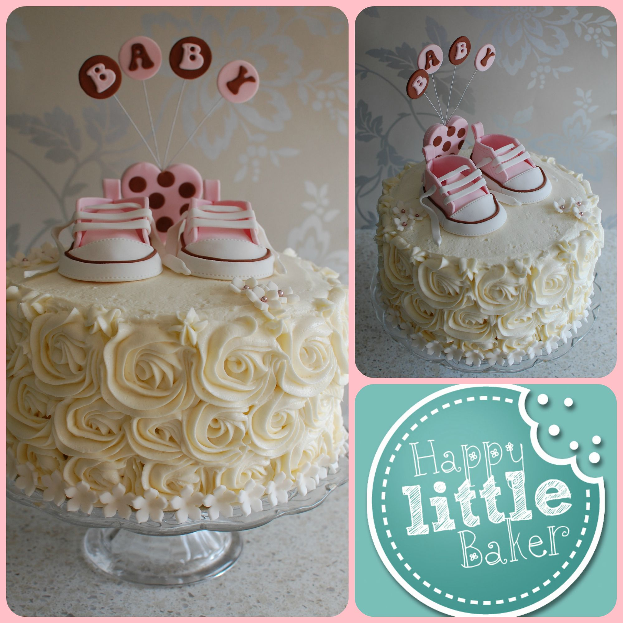Gumpaste Converse Shoes Baby Shower Cake 3 Layer Red
