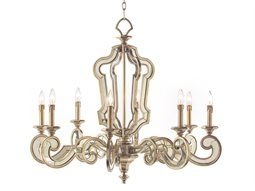John Richard Aged Silver Eight Light 37 Wide Chandelier