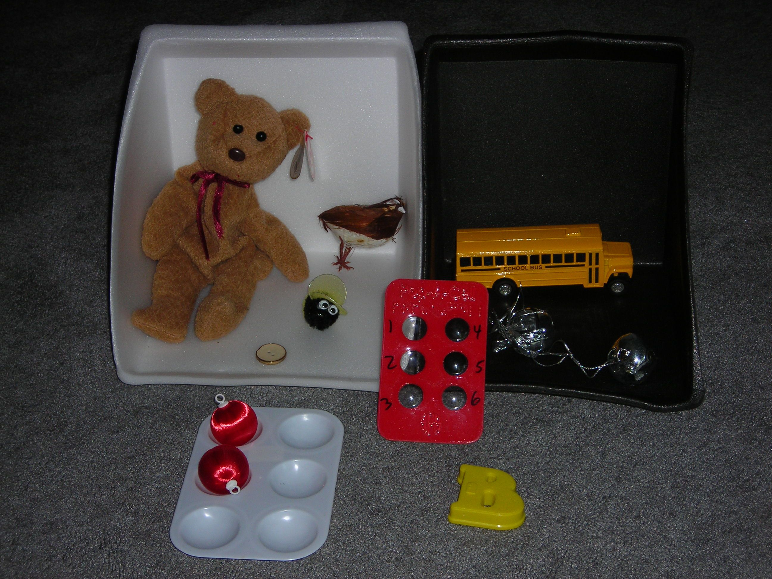 Beginning Braille Activity For Blind Students Using Real Objects To Teach The