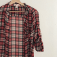 Flannel shirt and leggings  Plaid sheer top  Red plaid Plaid and Flannels
