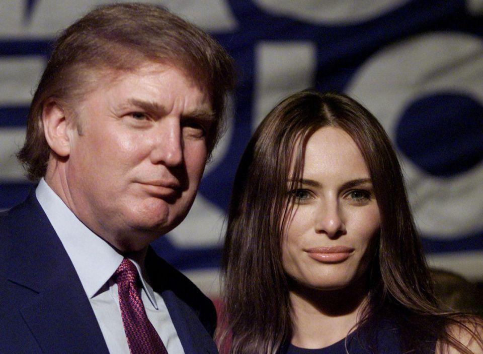 Image result for Melania Trump na Donald Trump