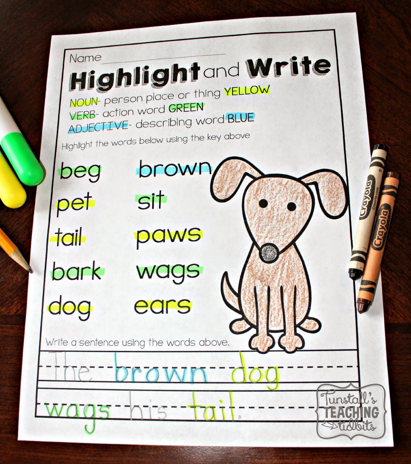 Printable Literacy Practice Parts Of Speech Blends And Chunks Word Endings Scrambled