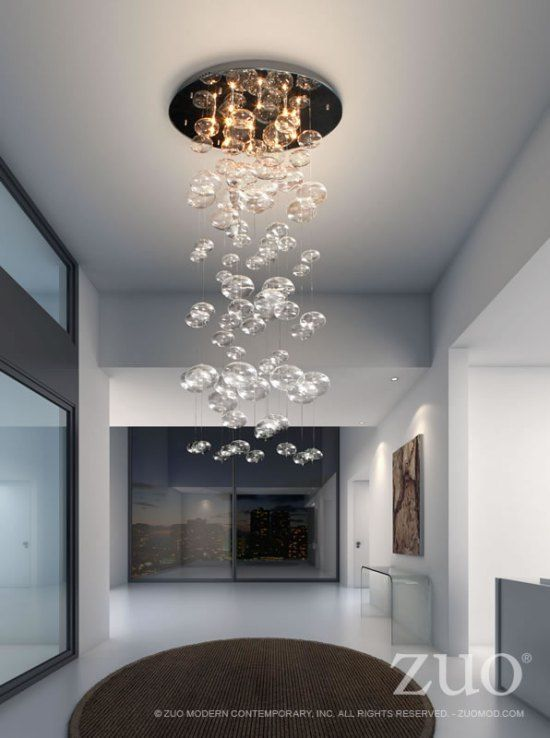 Zuo Thanks For Powder Room And Dressing Lighting White Crystal Bubble Modern Chandelier