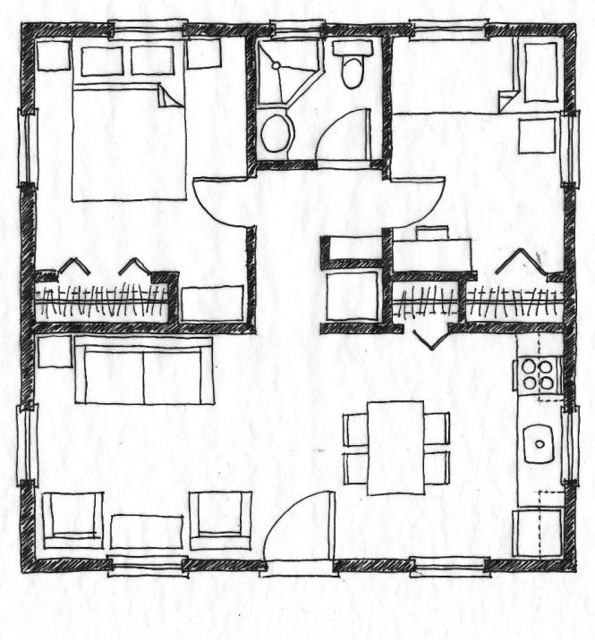 576 Square Foot Two Bedroom House Plans Html Muir