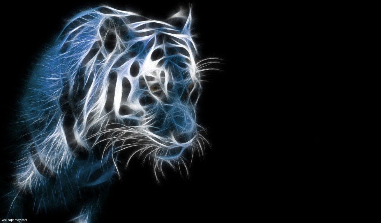 tiger lights animation hd wallpaper | 3d | pinterest | tigers
