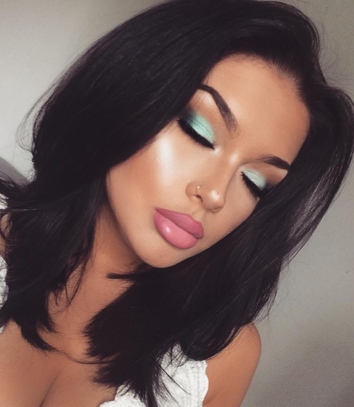 Best 25 Black Hair Green Eyes Ideas