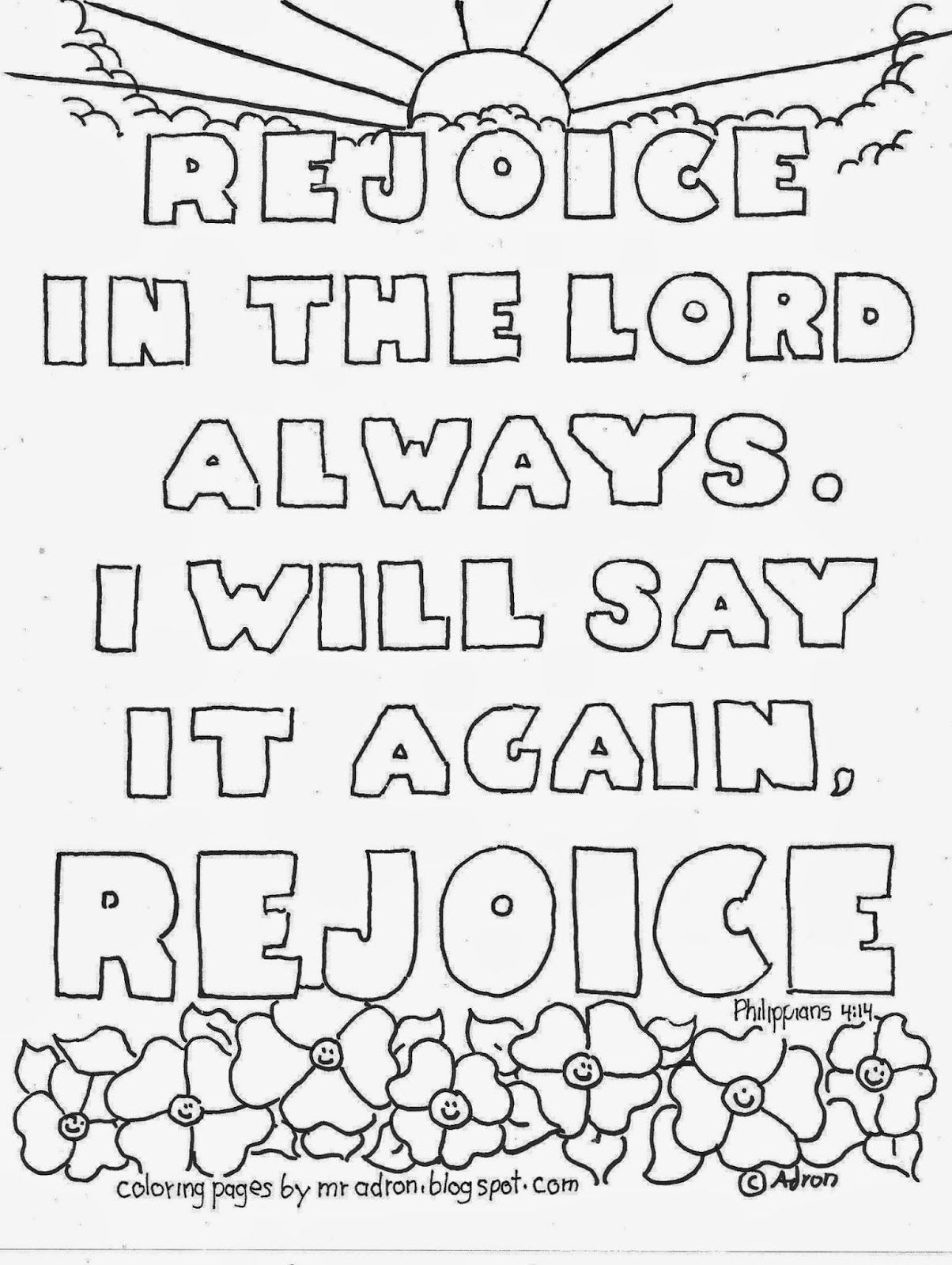 Rejoice In The Lord Coloring Page See More At My Blog