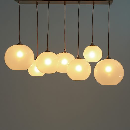 Glass Orb Chandelier Opal West Elm Could Be Pretty In The Dining Room