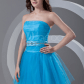 Milanoo ltd homecoming dresses aline blue tulle beading