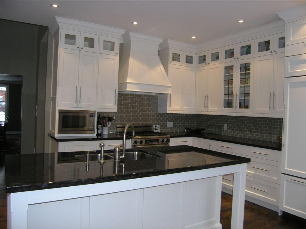 transitional kitchen with stacked upper cabinets glass inserts cabinets by barlow cabinet on kitchen cabinets glass inserts id=52530