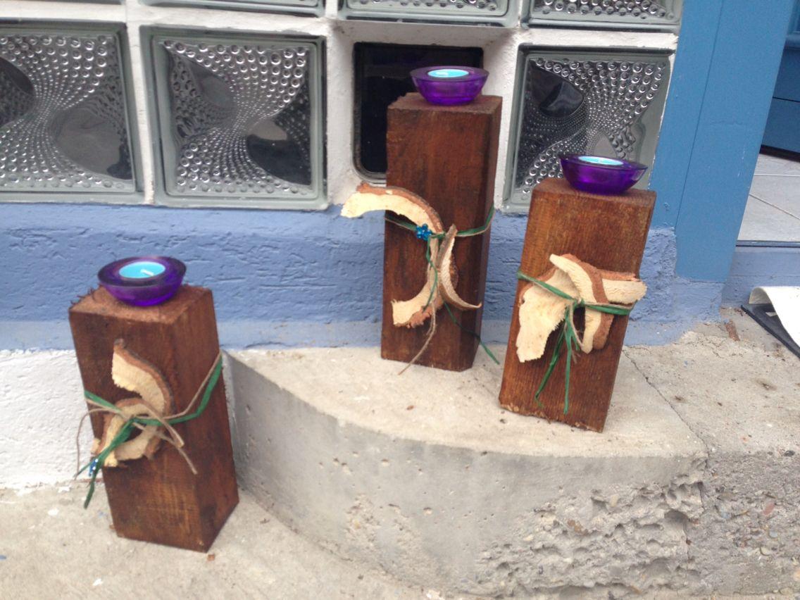 Holzbalken Lasiert Und Dekoriert