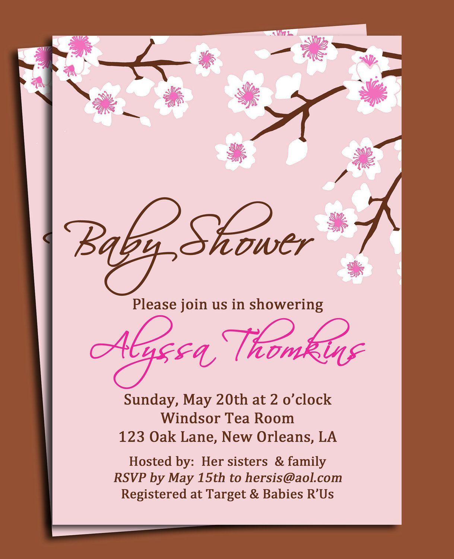 Cute Baby Shower Invitation Wording PaperInvite