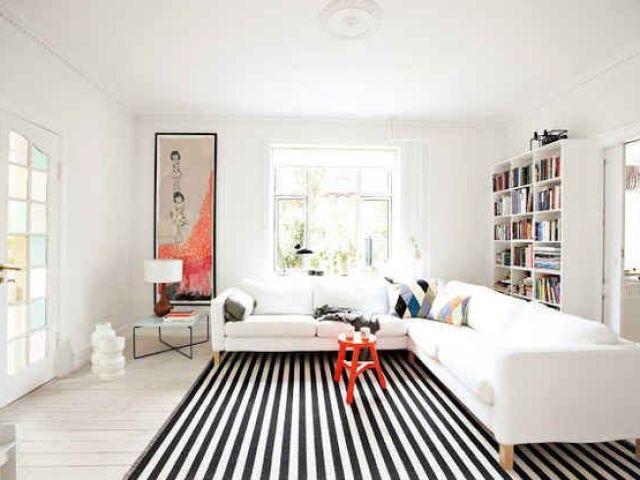 Image result for striped carpet room looks bigger