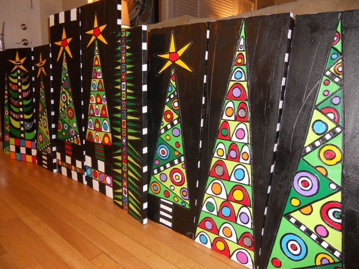Christmas Trees That would be a beautiful school art project idea