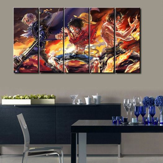 Hot Sel 5 Pcs Modern Decorative One Piece Cuadros Painting Canvas Wall Art Picture Home Decoration Living Room Dream Aliexpress