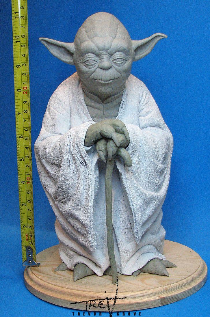 Yoda Statue sculpt by TrevorGrove on DeviantArt Sculpture