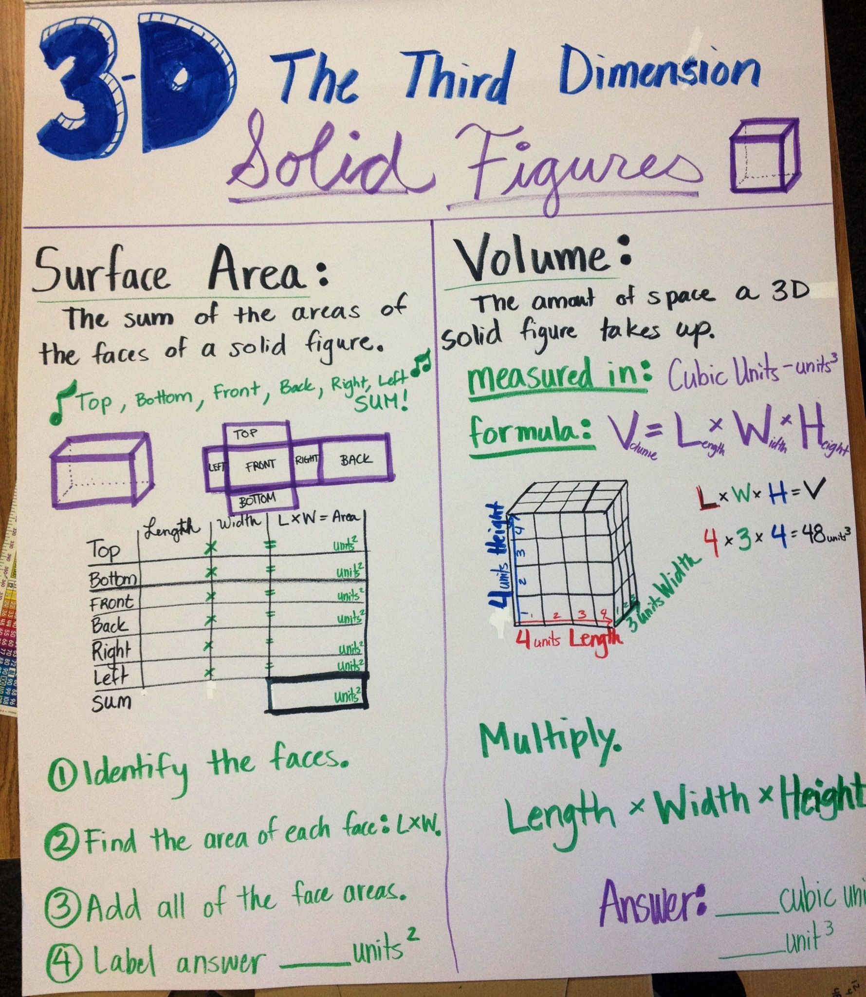 Surface Area And Volume 3d Solid Figures
