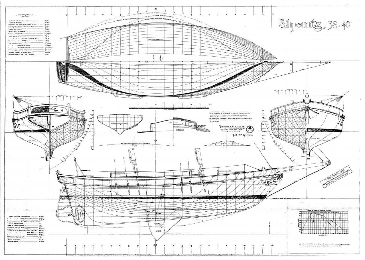 Shpountz 38 40 Plans De Carene Par Daniel Zigher